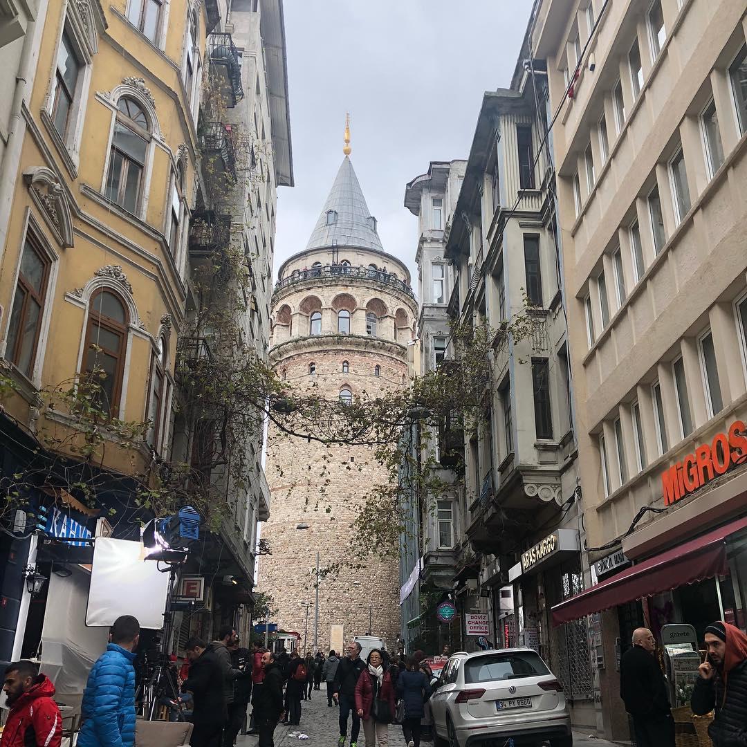 برج غلطة في اسطنبول التركية